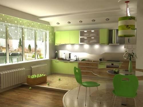 Дизайн кухни синий фото