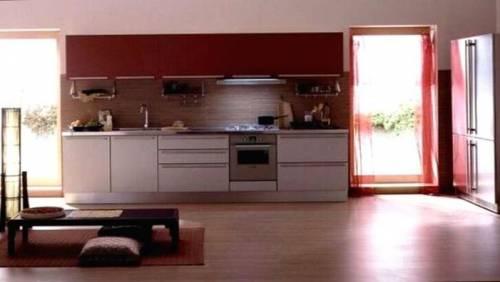 Интерьер кухни в бежевых тонах фото