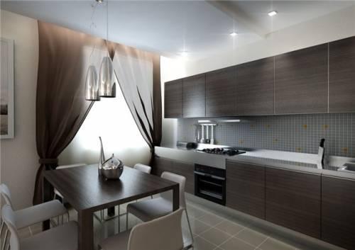 Дизайн кухни-студии 30 метров