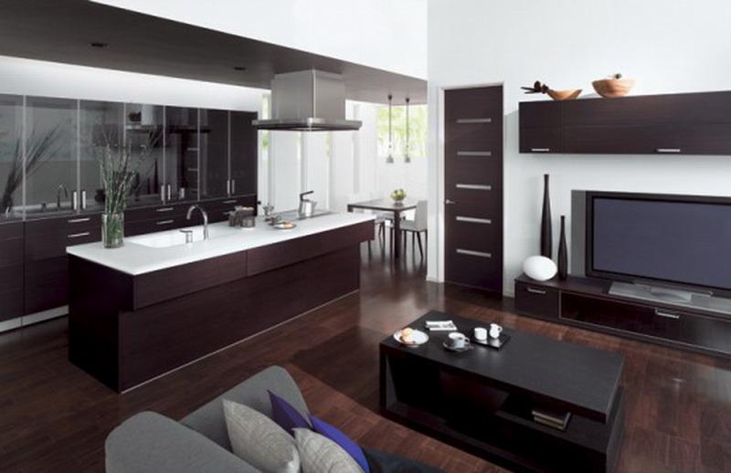 Как обустроить кухню совмещенную  с гостиной на фото